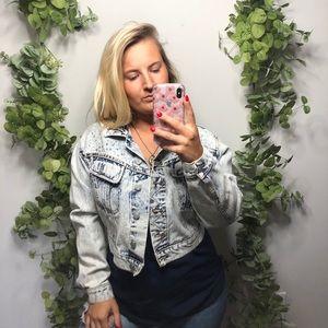 Dakota Blue Studded Vintage Denim Jacket M